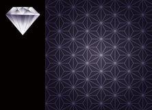 Diamant en achtergrond Royalty-vrije Stock Foto