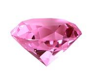 Diamant en cristal rose de brûlure Images libres de droits