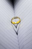 Diamant en gouden ring Royalty-vrije Stock Foto