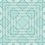 Diamant en Vierkant Naadloos Patroon Stock Afbeelding