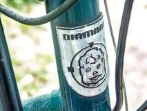 Diamant-Fahrrademblem lizenzfreie stockfotos