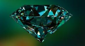Diamant, gemstone eller kristall som reflekterar färgglat ljus Fotografering för Bildbyråer
