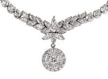Diamant-Halskette Stockbilder