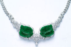 Diamant-Halskette Stockfotografie