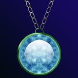 Diamant-Halskette Stockbild