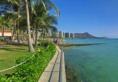 Diamant Hoofd Panoramisch Hawaï Stock Afbeelding