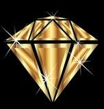 Diamant i guld vektor illustrationer