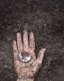 Diamant i gyttjan Arkivfoto