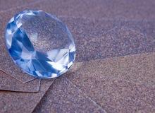 Diamant im Rau-horizontalen Stockfoto