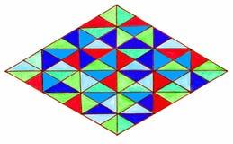 Diamant med färgrika trianglar Royaltyfria Foton