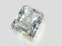 Diamant mit einem Bild von Buddha lizenzfreie abbildung