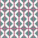 Diamant-Motiv Boho-Art-Kontrollmuster Stockbild