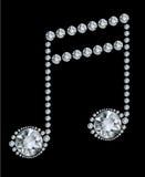 Diamant-Musik-Anmerkung Lizenzfreies Stockbild