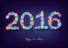 Diamant nieuw jaar 2016 Stock Afbeeldingen