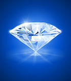 Diamant op blauwe achtergrond Royalty-vrije Stock Afbeelding