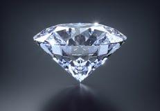 Diamant op een zwarte achtergrond royalty-vrije illustratie