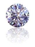 Diamant op glanzende witte achtergrond Royalty-vrije Stock Foto