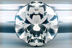 Diamant op Grey Background Stock Foto