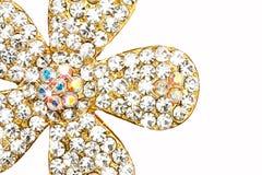 Diamant op juwelen Stock Afbeeldingen
