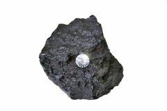 Diamant op rots Stock Foto's
