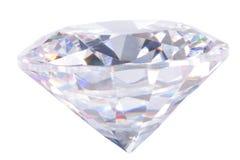 Diamant op wit Royalty-vrije Stock Foto's