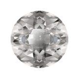 Diamant op witte achtergrond Royalty-vrije Stock Foto's