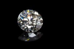 Diamant op Zwarte royalty-vrije stock afbeelding