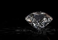 Diamant op zwarte achtergrond Royalty-vrije Illustratie