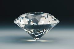 Diamant på mörk bakgrund royaltyfri illustrationer