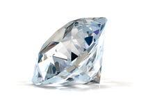 Diamant på vit. Arkivfoto