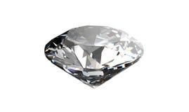 Diamant på vit bakgrund med högkvalitativt Arkivfoto