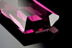 Diamant pourpré précieux Photos libres de droits