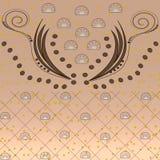 Diamant, Quadrat mit Verzierungen und mehrfarbige Punkte Lizenzfreies Stockfoto