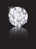 Diamant reflété Photographie stock libre de droits