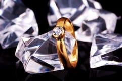 Diamant-Ring Lizenzfreie Stockfotografie