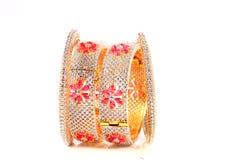 Diamant robijnrode armbanden Stock Fotografie