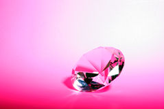 Diamant rose Photographie stock libre de droits