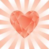 Diamant rouge Photo libre de droits