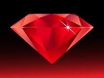 Diamant rouge Photographie stock