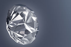 Diamant rougeoyant - illustration 3D Photographie stock