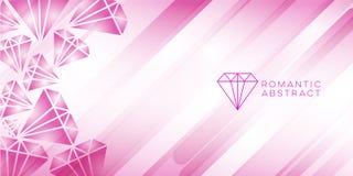 Diamant roze abstract ontwerp als achtergrond vector illustratie