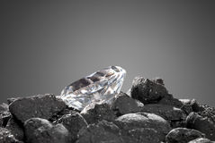 Diamant in ruw Stock Afbeeldingen