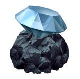 Diamant in ruw vector illustratie