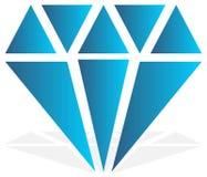 Diamant simple, signe de bijoux, symbole Pierre précieuse, icône rouge, Image libre de droits