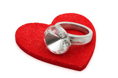 diamant som ger cirkeln Royaltyfria Bilder