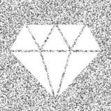 Diamant sur le fond argenté Photo stock