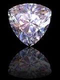 Diamant sur le fond noir lustré Photos stock