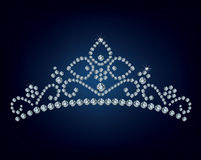 Diamant-Tiara stock abbildung