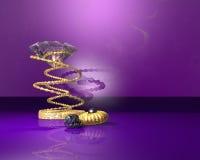 Diamant- und Goldschmucksachen 3D stock abbildung