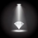 Diamant unter der Lichtvektorillustration Lizenzfreie Stockfotos